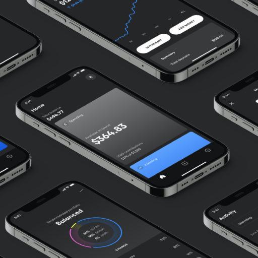starship app screens on black background