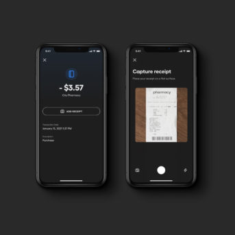 Image of the app and receipt storage